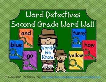 Word Detectives Second Grade Word Wall