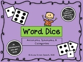 Word Dice Game - Antonyms, Synonyms, Categories