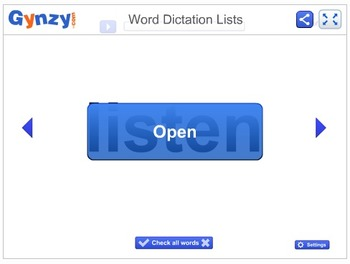 Word Dictation Lists