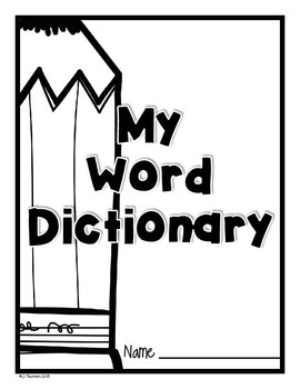 Word Dictionary 1st Grade