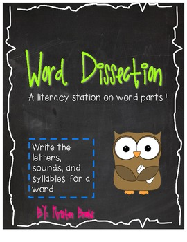 Word Dissection Literacy Station! (Letters, Sounds, Syllables)