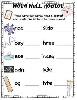 Word Doctors- COMMON CORE ALIGNED