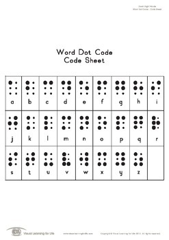 Word Dot Code (Pre-K)