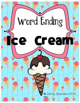 Word Ending Ice Cream! (Work Station)