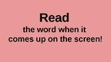Word Ending Powerpoint