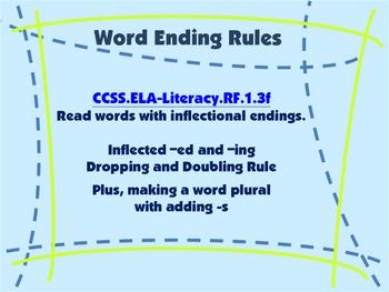 Word Ending Rules