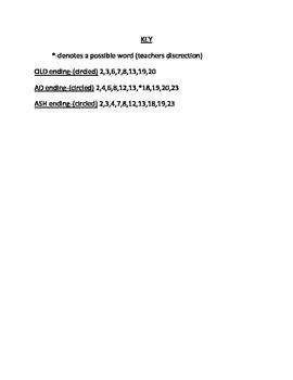 Word Ending Worksheets