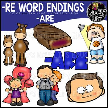 Word Endings –ARE Clip Art Bundle {Educlips Clipart}