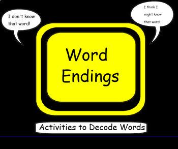 Word Endings-Activities to Decode Words