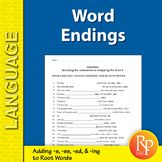 Word Endings: Adding -s, -es, -ed, and -ing to Root Words