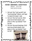 """Word Endings """"Addition"""" Center or Small Group Game"""