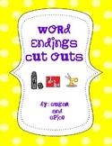 Word Endings Cut and Paste