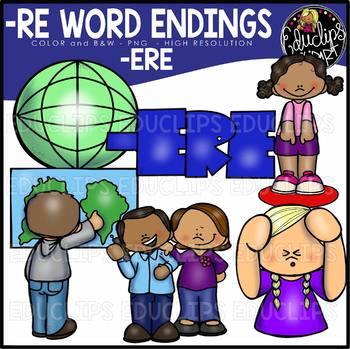 Word Endings –ERE Clip Art Bundle {Educlips Clipart}