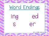 Word Endings Poster