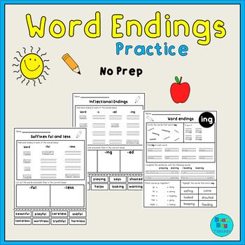 Word Endings Practice | No Prep