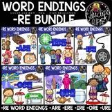 Word Endings –RE Clip Art Big Bundle {Educlips Clipart}