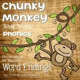 Word Endings- Phonics Unit, Word Work and Literacy Center