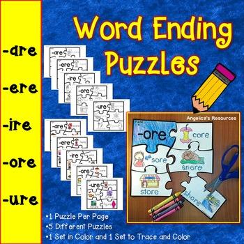 Word Endings: Word Ending Puzzles