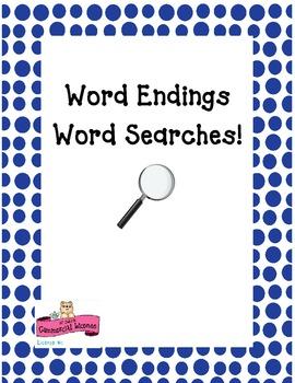 Word Endings Word Search