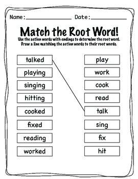 Word Endings -ed and -ing