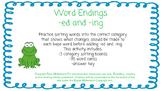Word Endings: -ed and -ing