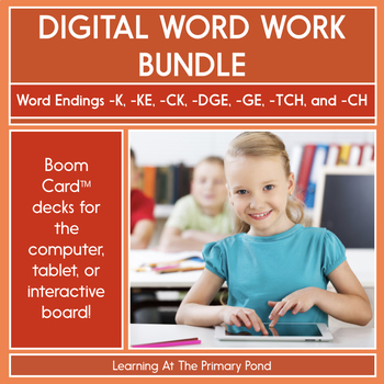 Word Endings for Final Sounds /K/, /CH/, & /J/ - Digital Phonics | BOOM Cards™