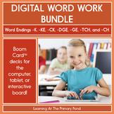 Word Endings for Final Sounds /K/, /CH/, & /J/ - Digital Phonics | BOOM Cards™
