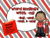 Word Endings with -ng PowerPoint