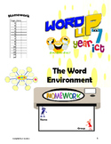 FREE-Word Environment Homework Booklet Year 6, Grade 6, Year 7, Grade 7,