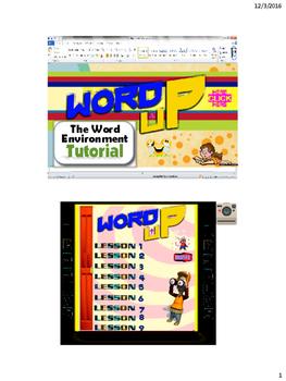 Word Environment Tutorial PDF version of PPT Year 6, Grade 6, Year 7, Grade 7,