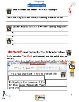 FREE-Word Environment Student Workbook Pg1-12. Year 6, Grade 6, Year 7, Grade 7,