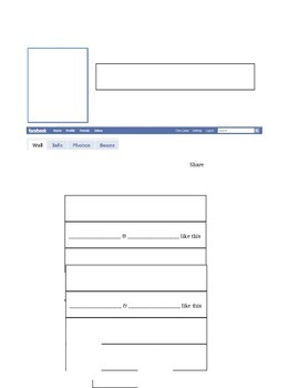 Word Facebook Template
