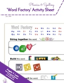 Word-Factory Activity Sheet (Back-to-School Phonics & Spel