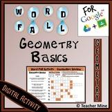 Word-Fall - Geometry Basics - Digital Activity
