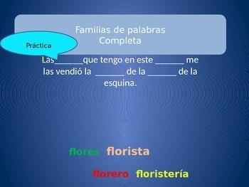 Word Familes STATIONS/ ESTACIONES Familias de palabras - Spanish