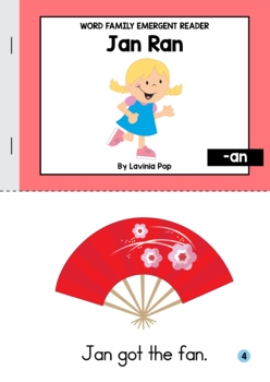 Word Family Readers with Comprehension pages