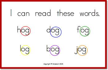 Word Families Student Flip Books Set 1