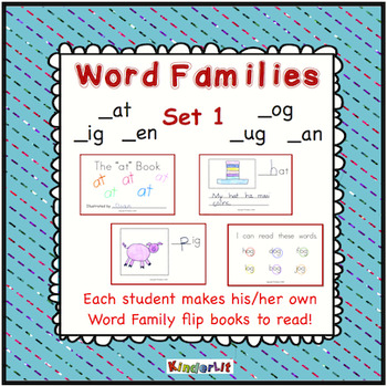 Word Families Student Flip Books Set 1