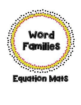 Word Families: Equation Mats