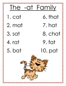 Word Families - Free Poster Set