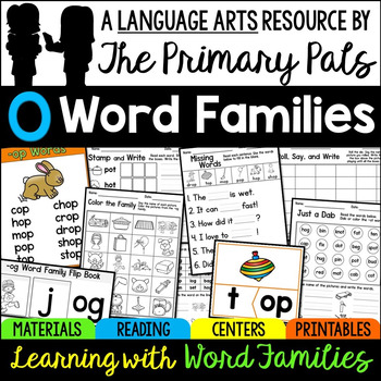 Short O Word Families Worksheets, Books, and Activities