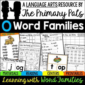Short O Word Families Bundle