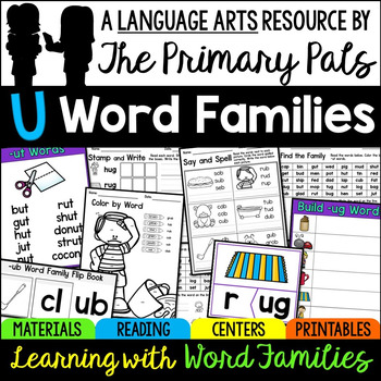 Short U Word Families Worksheets, Books, and Activities