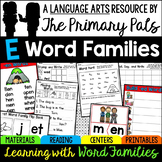 CVC Word Families Worksheets, Centers, Guided Reading Short E Bundle
