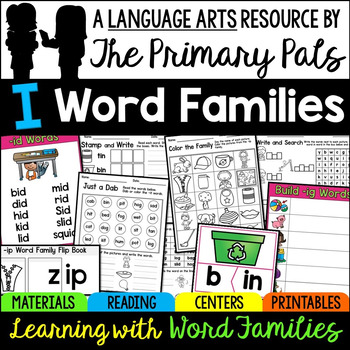 CVC Word Families Worksheets, Centers, Guided Reading Short I Bundle