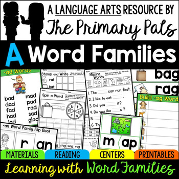 Short A Word Families Worksheets, Books, and Activities