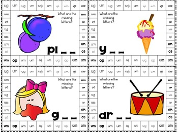 Word Families 2 Hole Punch Cards {44 Cards}