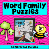 Word Families: Word Family Puzzles - Great for Back to Sch