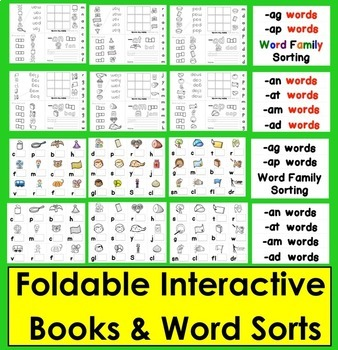 Word Families Word Work: an, at, ag, am, ad, ap {Short a}