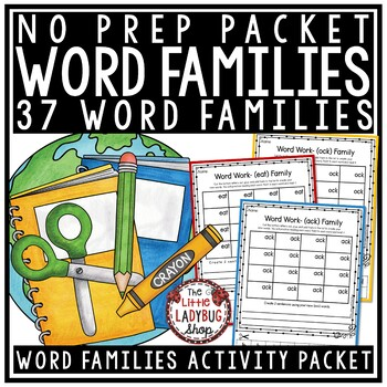 Word Family Activities & Word Family Worksheets